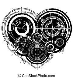心, 艺术, 描述