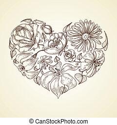 心, 花, グラフィック, アイコン