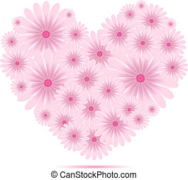 心, 花, ベクトル, 創造的