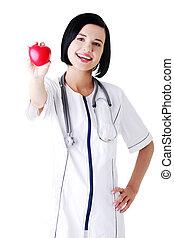 心, 若い, 看護婦