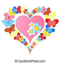 心, 蝶, バレンタイン