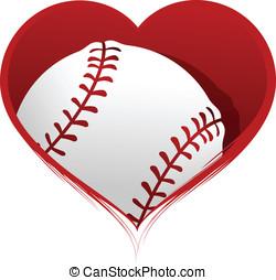 心, 裡面, 棒球