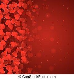 心, 赤い背景