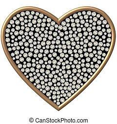 心, 鑽石