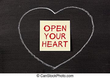 心, 開いた, あなたの