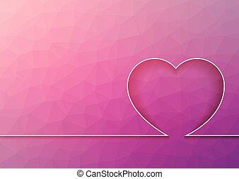 心, 馬賽克, 摘要, 背景, -, 三角形, 線, 粉紅色