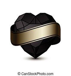 心, 黒, gold-01
