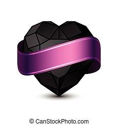 心, 黒, purple-01