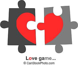 心, -, 2, イラスト, バレンタイン, 部分, ベクトル, 日, 赤
