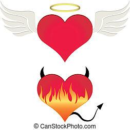 心, angel/devil