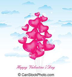 心, balloon, 日, バレンタイン