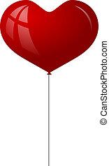 心, balloon, 赤, 形態