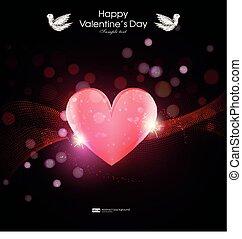 心, greting, 愛, valentin, 日, カード