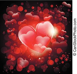 心, greting, 愛, valentin, day., カード