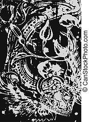 心, heraldic, 翼, 背景