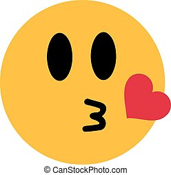心, smiley, 接吻
