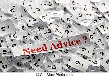 必要性, アドバイス