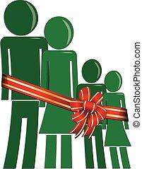 必要性, クリスマス, 家族