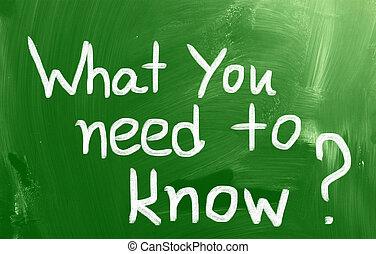 必要性, 何か, 概念, 知りなさい, あなた