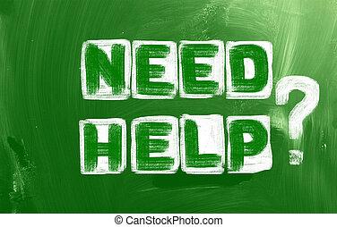 必要性, 概念, 助け
