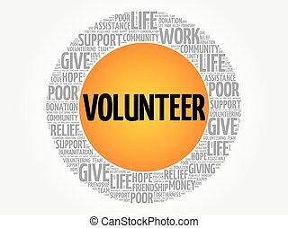 志願者, 詞, 雲, 拼貼藝術