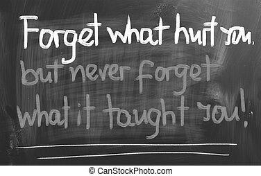 忘記, 什麼, 受傷害, 你, 概念