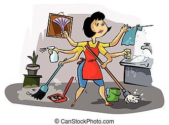 忙しい, お母さん