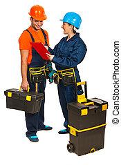 快樂, 建造者, 工人, 隊