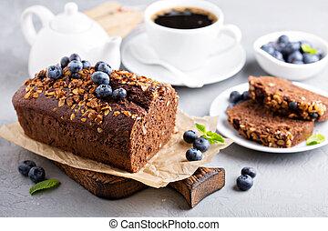 快, 整體, 巧克力, 小麥,  bread