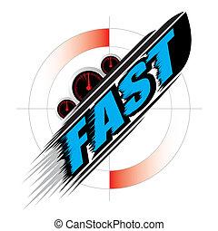 快, 速度, 概念, 矢量