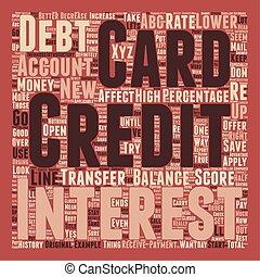 怎樣, 信用卡, 平衡, 傳輸, 罐頭, 影響, 你, 信用, 得分, 正文, 背景, wordcloud, 概念