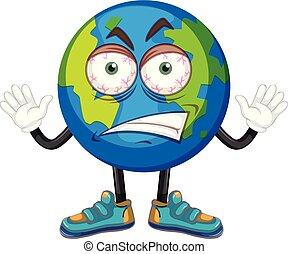 怒り, 地球, 顔