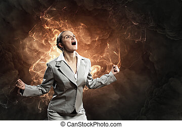 怒り, 女性実業家