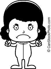 怒る, パジャマ, 漫画, 女の子