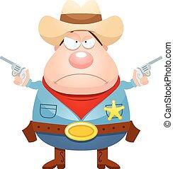 怒る, 漫画, 保安官