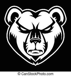怒る, 熊, 顔