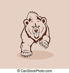 怒る, 熊, grizzly