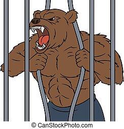 怒る, 2, ケージ, 熊