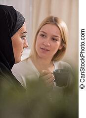 思いやりがある, muslim, 女の子