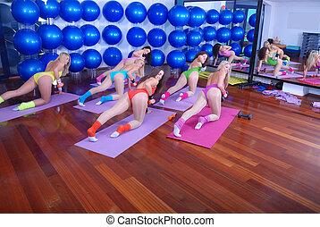 性感, 女孩, 工作室, 健身