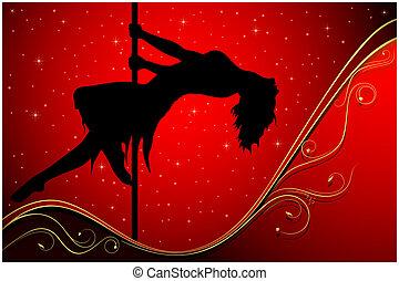 性感, 桿, 舞蹈演員