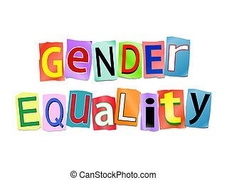 性, concept., 平等