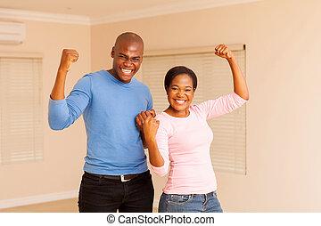 恋人, アフリカ, 若い, 握りこぶし, 保有物