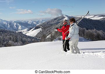 恋人, スキー