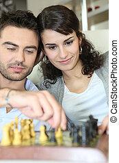 恋人, チェス, 遊び