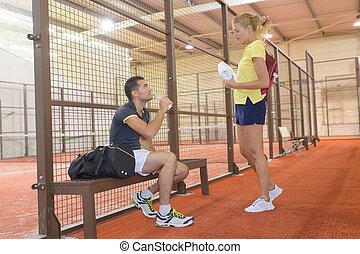 恋人, テニスマッチ, 後で