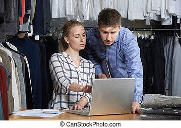 恋人, ファッション, 線, 動くこと, ビジネス