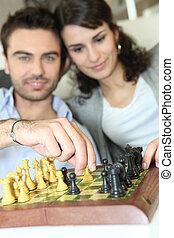 恋人, プレーのチェス