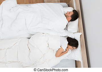恋人, ベッド, 睡眠
