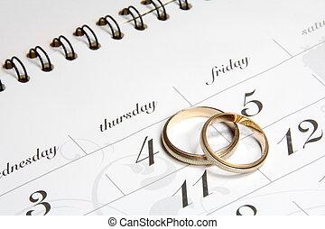 恋人, リング, カレンダーにかけなさい, 結婚式